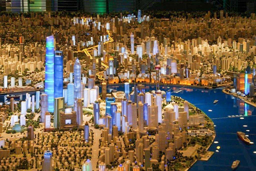 Maquette de la ville de Shanghai